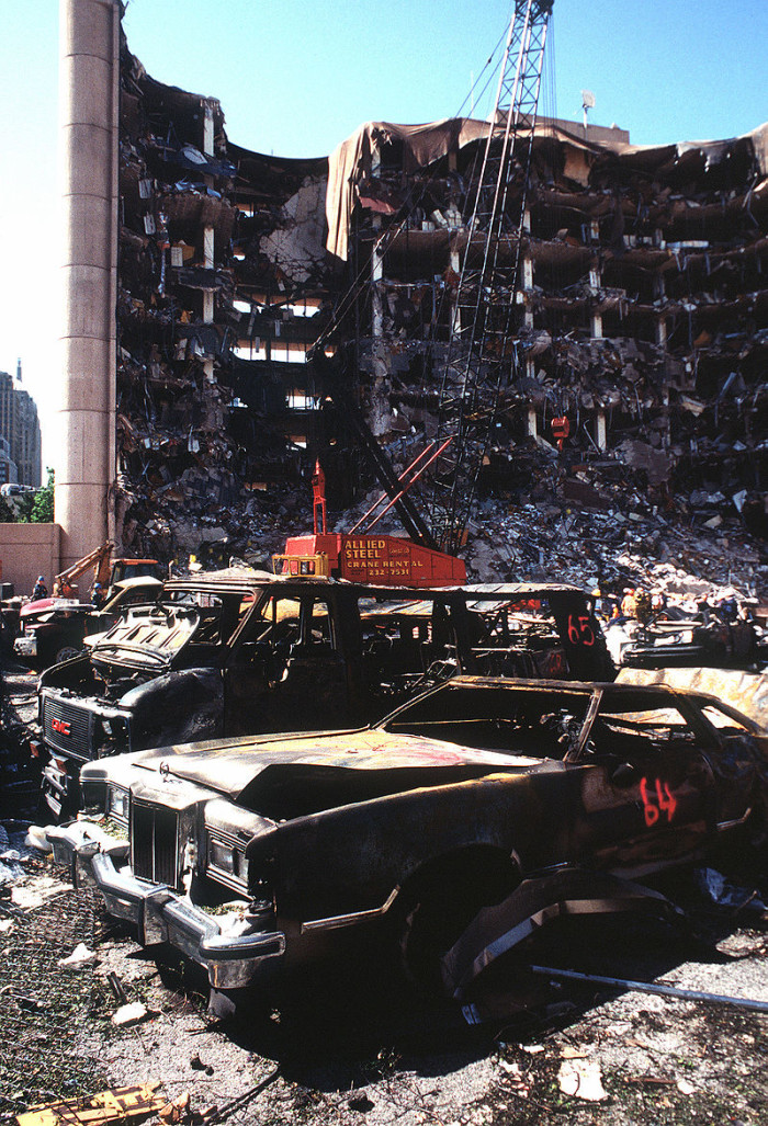 The powerful bomb inside the Ryder truck was made out of a deadly cocktail of agricultural fertilizer, diesel fuel and other chemicals. The total weight of the truck was almost 5,000 pounds.