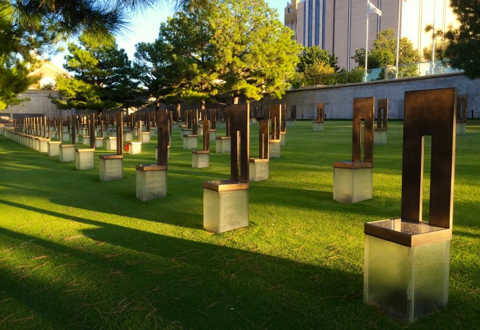 The Oklahoma City National Memorial was built in its place.