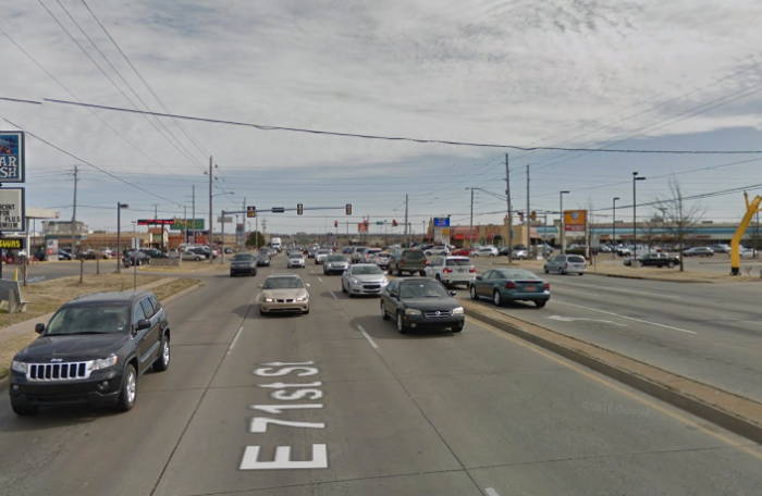 10. East 71 St and South Mingo Drive in Tulsa.