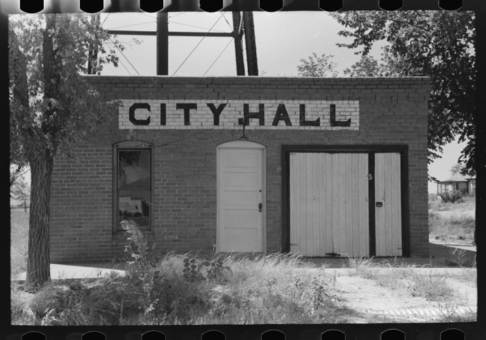 17. City halls smaller than one-room schoolhouses.