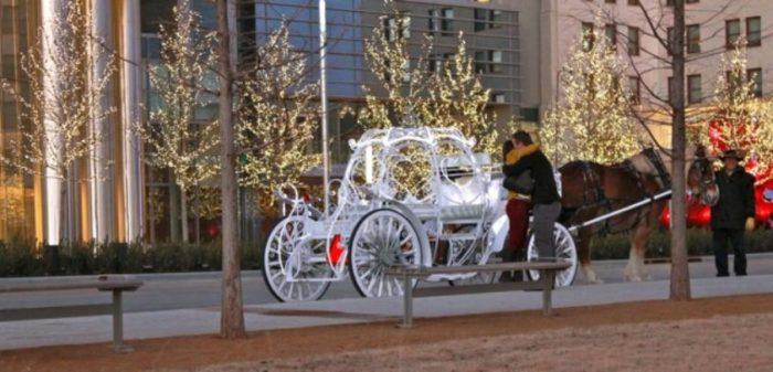 2. Horse-drawn carriage ride in Bricktown, Oklahoma City