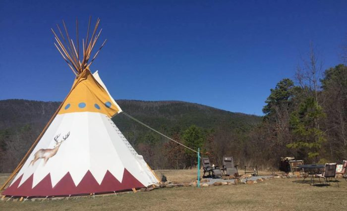 You can rent luxurious tepees and spend the night.