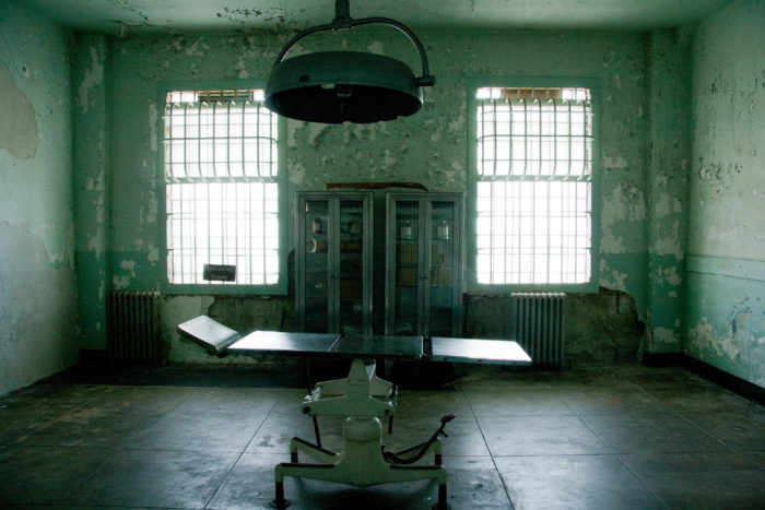 10. Alcatraz makes the list twice with this horrifying operating room.