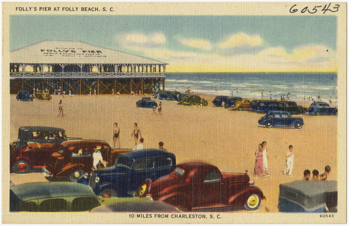 5. Drive and PARK your car on the beach, like they are here on Folly.