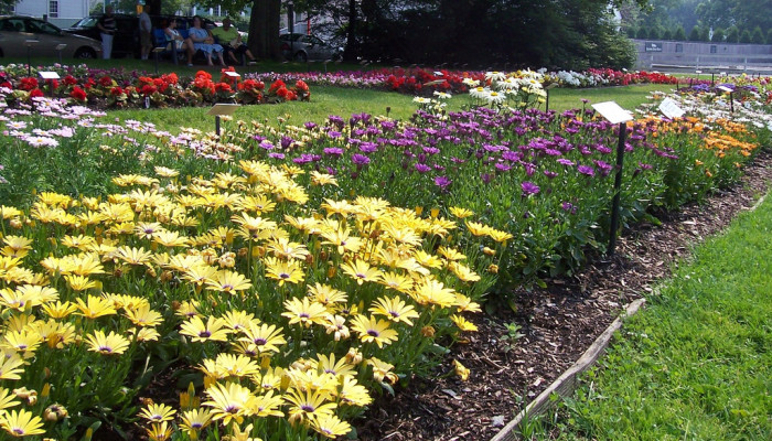 7. Prescott Park in Portsmouth is a wonder combination of cultivated and natural beauty.