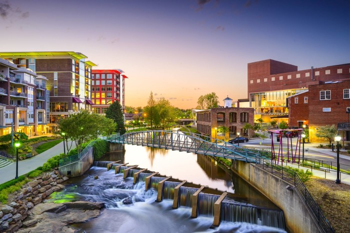 1. Greenville, SC - The Reedy River