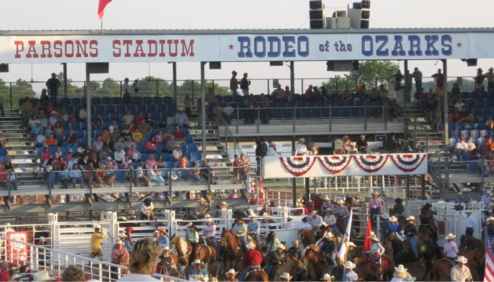 Bonus: Come back to Parsons Stadium from June 22-25 for the Rodeo of the Ozarks.
