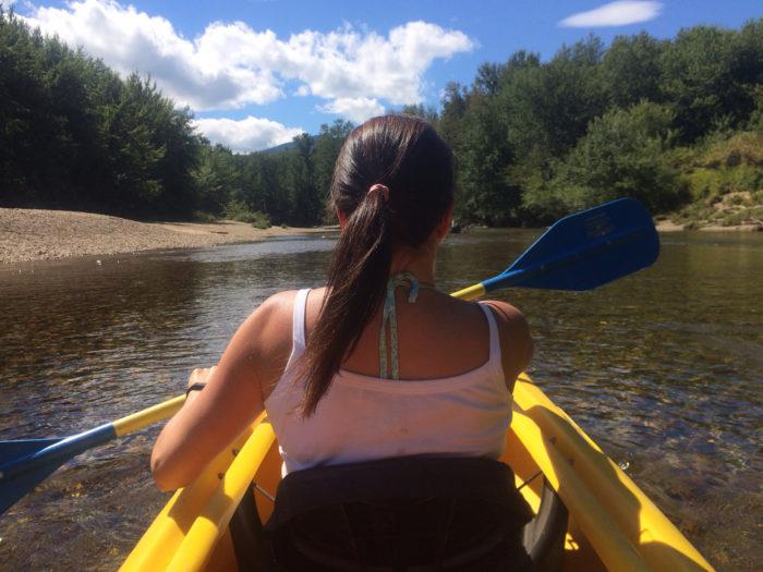 1. Kayak or canoe on the Saco river.