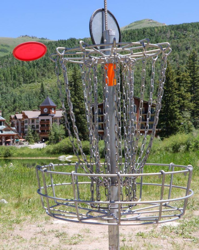 15. Play disc golf.