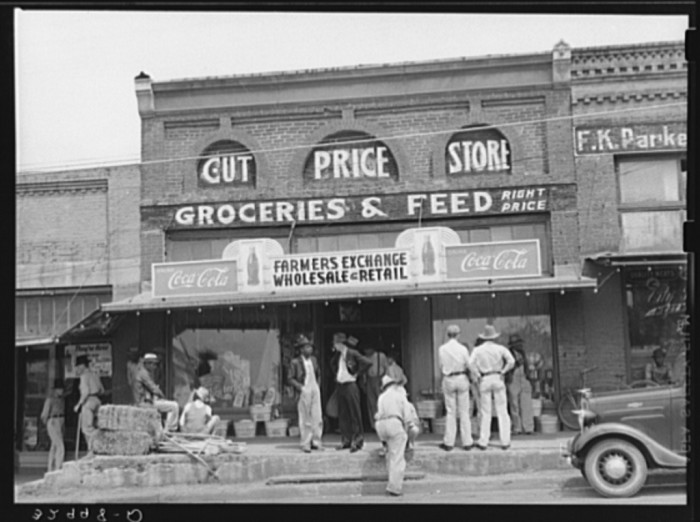9. A general store that parents sent children to on their bicycles to pick up milk and bread after school.
