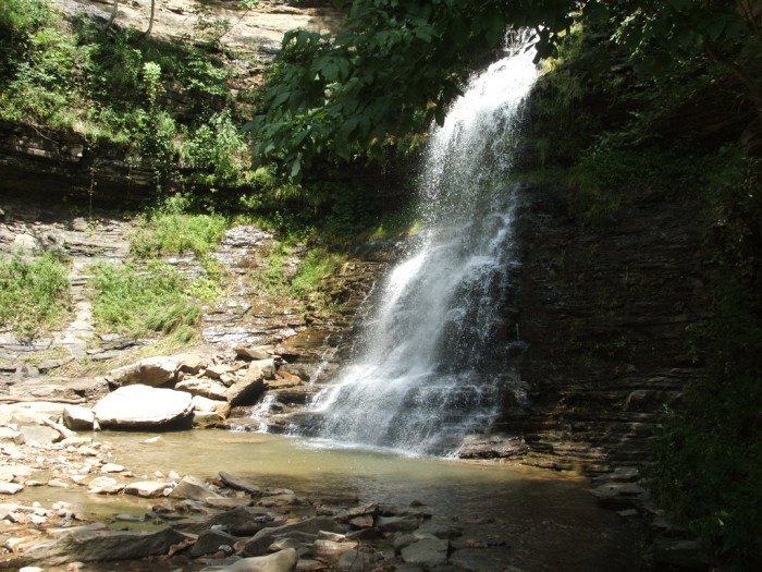 8. Beautiful waterfall at unknown location