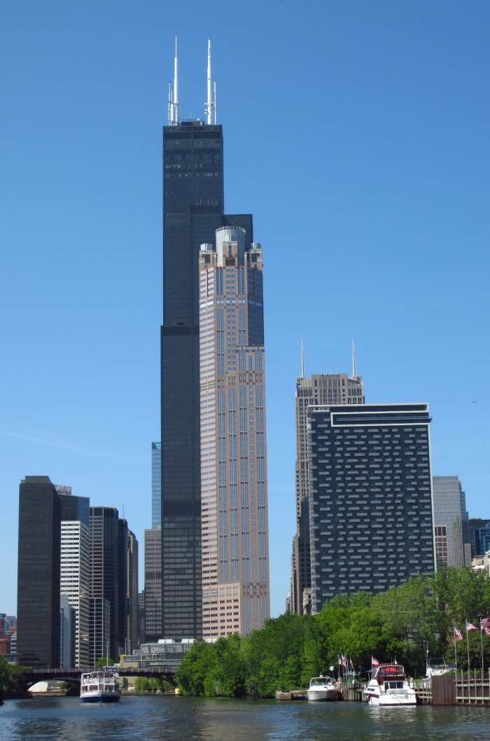 1. Willis Tower is 1,450 feet tall, 1,729 feet to the tip.