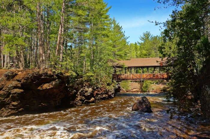 9. There is no shortage of places to hike, with plenty of interesting rock formations, waterfalls, rapids, and covered bridges.