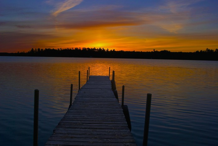 12. Really, there cannot be a better place to take in a sunset than over a Wisconsin body of water.