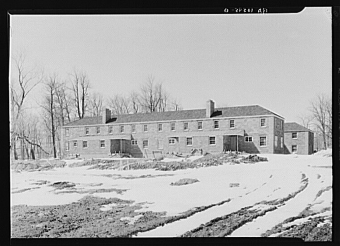 8. This is a multi-family house under construction on the Greendale project in 1937.