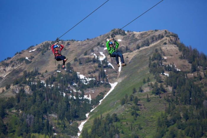 18. Fly down the mountain on a zip line.