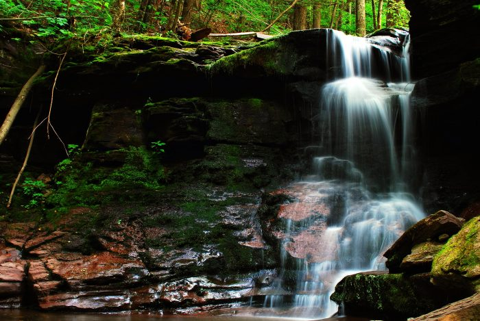 10. Captured near the Pepacton Reservoir, this hidden Catskills waterfall looks like something out of this world.