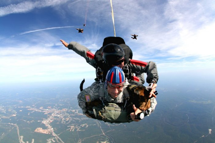 1. Go skydiving.