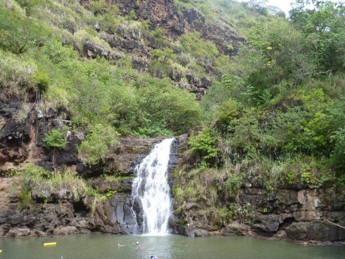 1. Hang out under a waterfall at Waimea Valley.