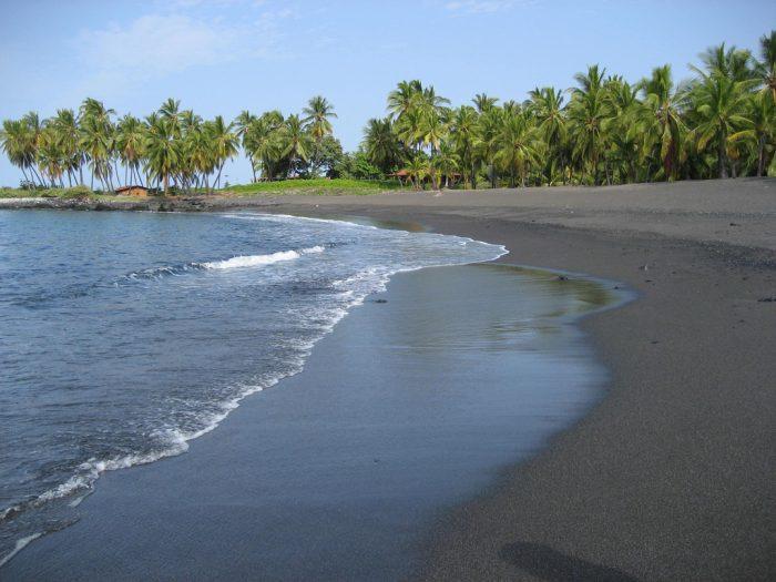 1. Honomalino Beach, Big Island