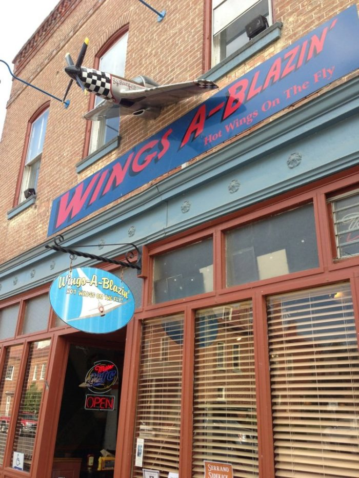 Depending on how early in the day you leave home, and how far you have traveled, you might arrive in Hermann a bit hungry.  Let's start out with a snack at Wings A Blazin'.
