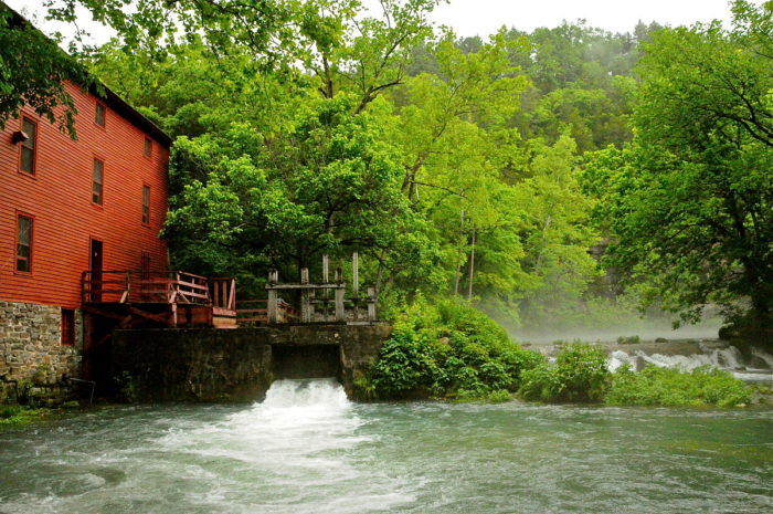 1.  Alley Spring and Mill, in the Ozark National Scenic Waterways