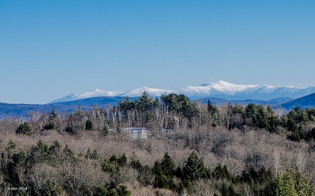 12. Mount Washington and the rest of the Presidential Range are striking during the winter.