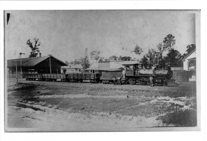 10. This photo of the Gloster depot was taken in 1883. In March of the following year, Gloster was officially incorporated.