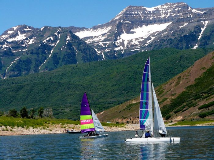 9. Sailboating on Deer Creek Reservoir.