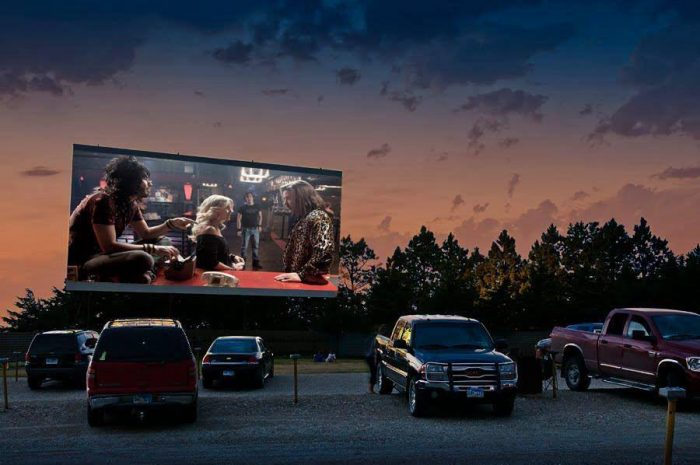 7. Watch a movie outdoors.