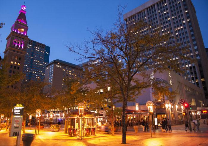 7. Downtown Denver at dusk.