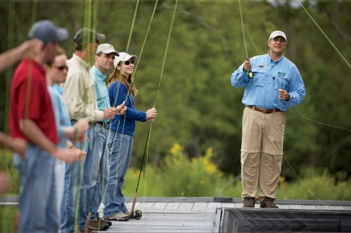 11. Get a quick lesson in fishing!