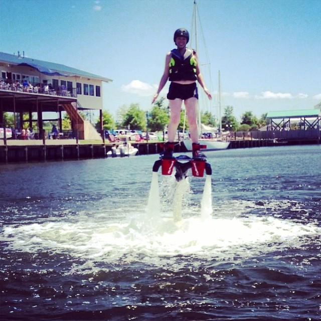 "The motto of NOLA Flyboard is actually ""Everyone FLIES. No one FAILS."""
