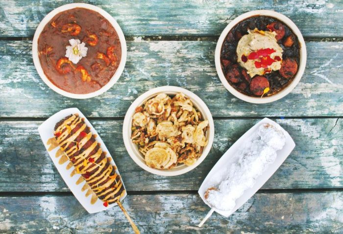 10. Baton Creole has some amazing cajun dishes straight outta Lousiana, but with an Austin, TX twist - Try their Jambalya on a stick!