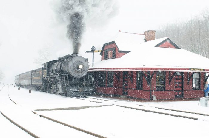 The Western Maryland Scenic Railroad also has steam locomotives like the one pictured below, but they are currently out of commission for regular inspection and will eventually return.