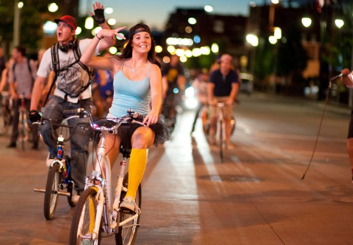 14. Get decked out and go on a Denver Cruiser Ride.