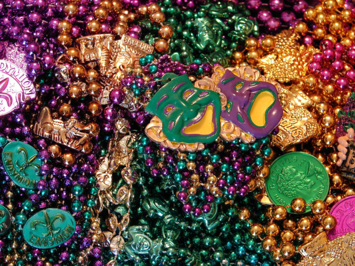 11) Mardi Gras beads can't be thrown from a window three stories up.