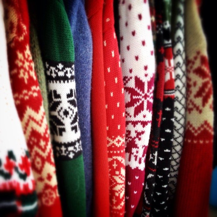 11. Buy some festive sweaters and spread joy all winter long.