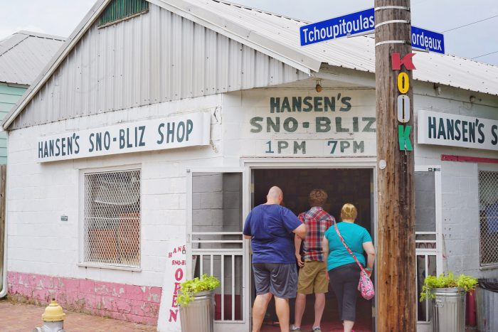 1) Stand in line for a snowball from Hansen's.