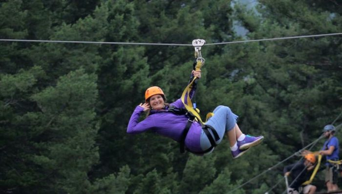 1. Be daring and go ziplining with a Gallatin River Zipline Tour.
