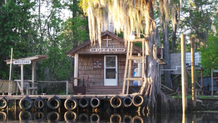 In 1983, a woman named Martha Deroche had a vision of a chapel being built at her home on Blind River in St. James Parish.