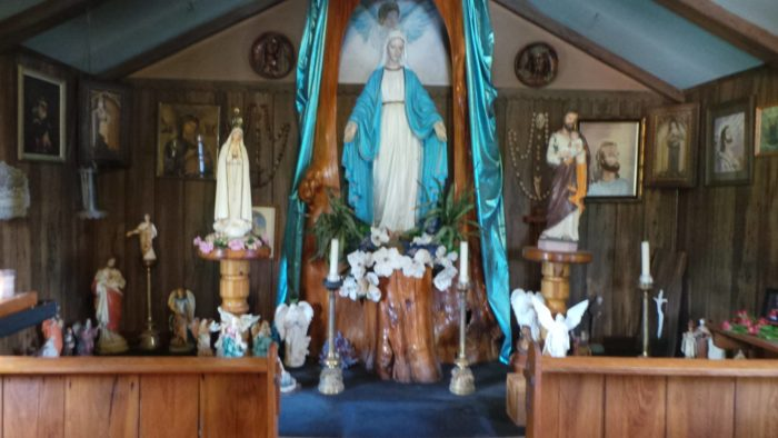 Many people in the area have flocked with the chapel, filling it with pictures, statues, and many other beautiful decorations.