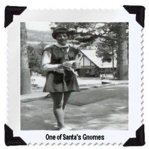 """""""Ever wondered what one of Santa's gnomes looked like back in the day?? Well now you do!"""""""