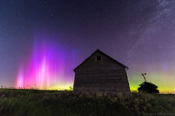 6. One in a while, we get to see the Northern Lights in Nebraska, like in this shot from Bee.