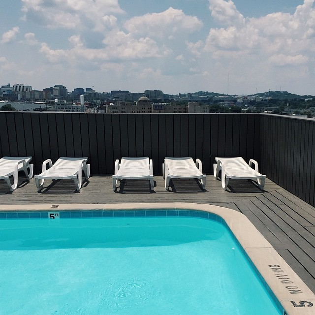 4. Did you know the downtown YMCA has a rooftop pool...?