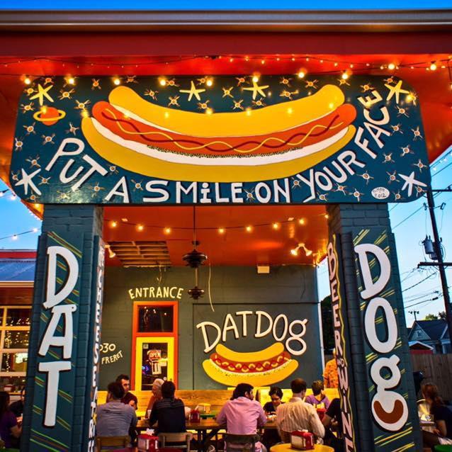 6) Get a Hot Dog at Dat Dog