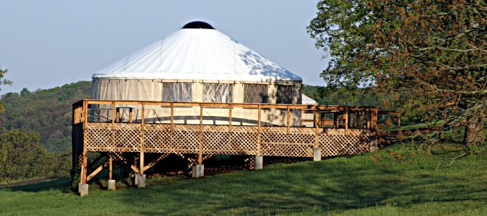 24.Rent a yurt in the Boston Mountains at StoneWind Retreat.