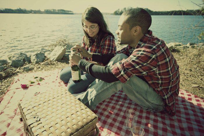 15. Enjoying a picnic by Smith Mountain Lake
