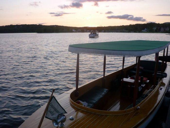 11. Enjoy a sunset boat ride in Rangeley.