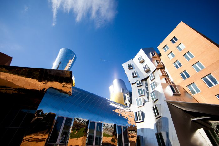 7. This fantastical shot looks like something from a Dr. Seuss book, but these buildings are actually part of MIT!